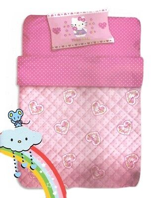 Trapunta lettino Baby Hello Kitty Rosa pois 300 gr *06001