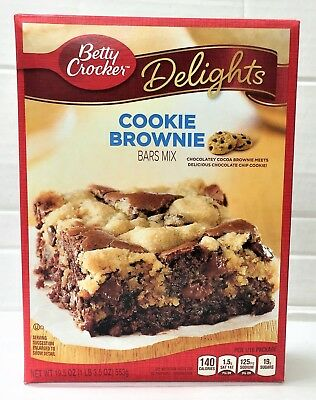 Betty Crocker Delights Cookie Brownie Bar Mix 19.5 oz