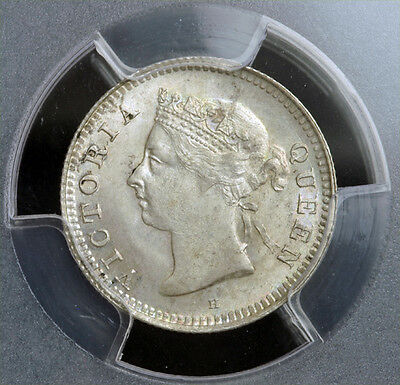 1889, Mauritius(British Government). Beautiful Silver 10 Cents Coin. PCGS MS-65!