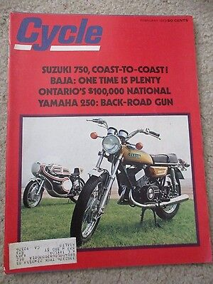 Cycle Motorcycle Magazine FEBRUARY 1972 FEB