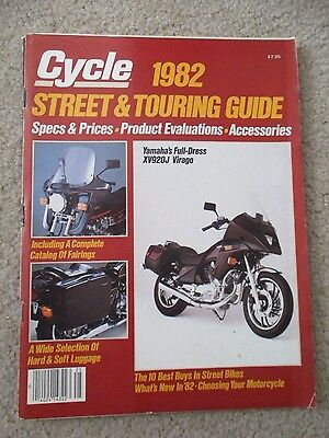 Cycle 1982 Street And Touring Guide Motorcycle Magazine