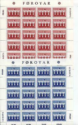 FAROE ISLANDS 1984 EUROPA CEPT MNH SHEETS x 20 Stamps (2 Items)