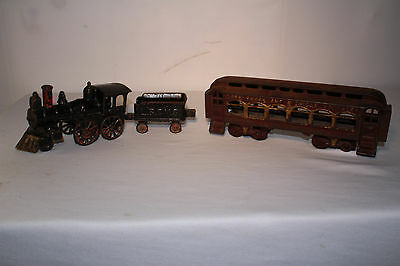 1900's Hubley, Dent, Lake Shore & Michagan Southern Cast Iron Floor Train