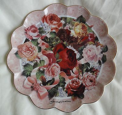 FRANKLIN MINT 'Victorian Rose Bouquet' Display Plate Series NM 1990s