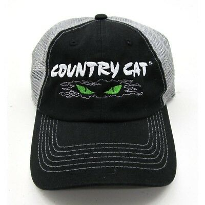 Country Cat Sportsman Cap Black / Grey Mesh 55% Cotton 45% Polyester CCSPORTSMAN