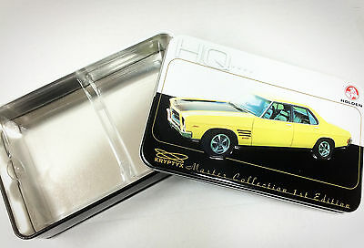 HOLDEN Master Collection Empty Metal Tin HQ--( Nice 110 card storage box)