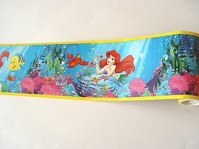 Selbstklebende Bordüre 5m x 15cm original Disney Princess Ariel Primaries 62148