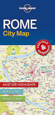 Rome LONELY PLANET CITY MAP 2016 Easy fold and Waterproof