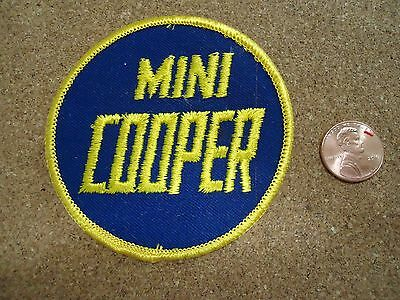 Vintage Mini Cooper Patch New Old Stock