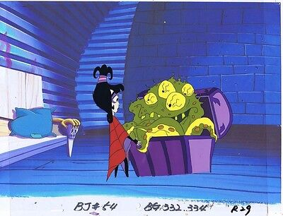 Beetlejuice The Animated Series Production Animation Cel & Copy Bkgd #A8392