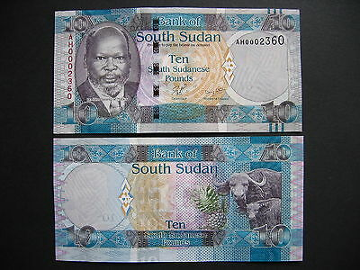 SOUTH SUDN  10 Pounds 2011  (P7)  UNC