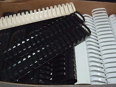 "Lot of 10 BLACK 2"" BINDING COMBS 19 Ring Plastic Book Spines OVAL 425 Sheet Cap"