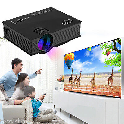 WIFI Vídeo Proyector HD Projector Cine en casa HDMI VGA USB AV TV PC 1200 Lumens