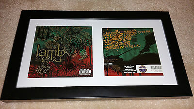 LAMB OF GOD Ashes Of The Wake SIGNED AUTOGRAPHED FRAMED CD DISPLAY #A