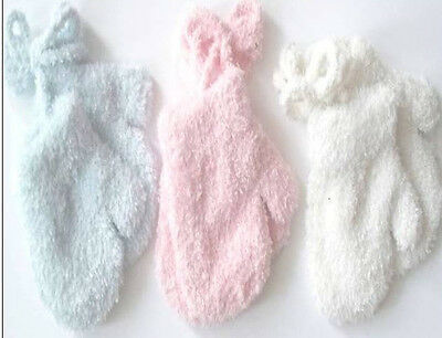 Boys Girls Extra Soft Baby Mittens Gloves with Cord Pink Blue White Anti Scratch