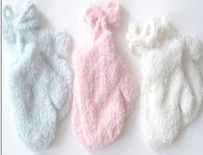 Boys/Girls Luxury Extra Soft Baby Mittens Gloves With Cord Pink/Blue/White