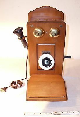 THE COUNTRY BELLE OLD COUNTRY WOODEN TELEPHONE TUBE RADIO 1970s