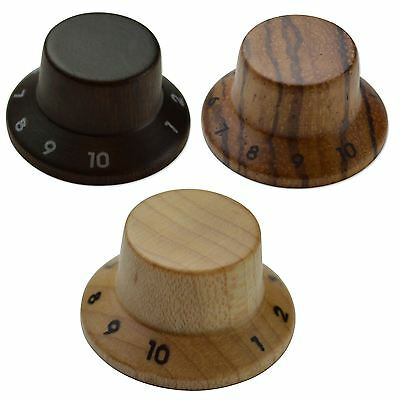 Maple, Rosewood, Zebrawood Wooden Volume & Tone Knobs for Fender Stratocaster