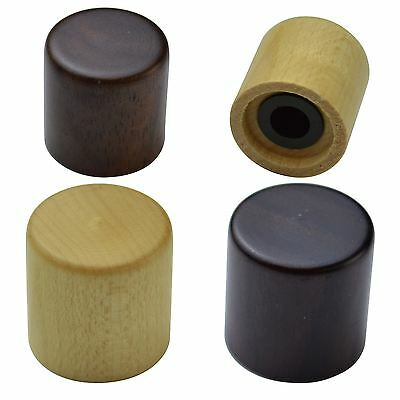 Maple, Rosewood, Walnut Wooden Volume & Tone Knobs for Electric Guitars