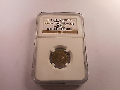1811 Great Britain Dalton 6 Pence Not Public Accommodation NGC XF 45 - # 088-005
