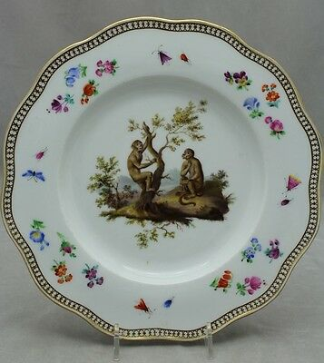 Meissen Hand Painted Cabinet Plate C. 1860