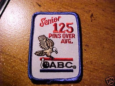 Abc Bowling Senior 125 Pins Over Average Award Patch
