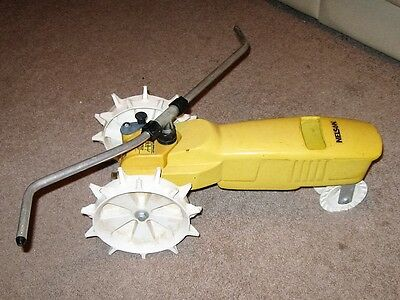Vintage Nelson Cast Iron Traveling Tractor Lawn Sprinkler