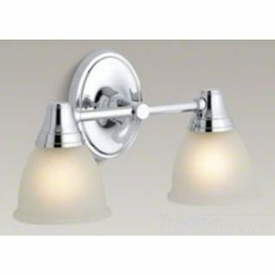 Kohler K-11366-CP Polished Chrome Forte Double Wall Sconce For Faucet Line