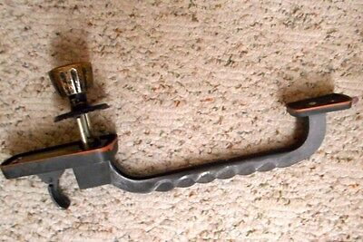 Vintage Twisted Wrought Iron Door Handle (16-Inch Long) and Knob