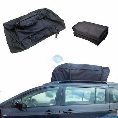 Waterproof 15 Cubic ft Car SUV VAN Travel Rooftop Carrier Storage Rack Cargo Bag