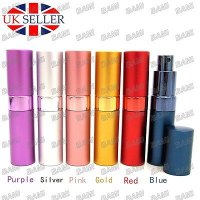15ML Perfume Aftershave Atomizer Pump Travel Refillable Atomiser Spray Bottle UK