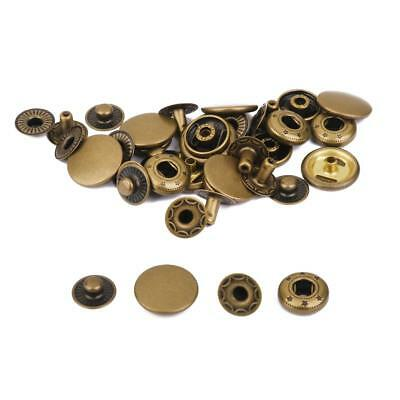 10 Snap Fastener Poppers Press Stud Sewing Leather Craft Clothes 15mm Bronze