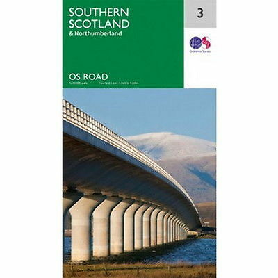 Southern Scotland & Northumberland Map 3 Ordnance Survey Road Map 1:250 000