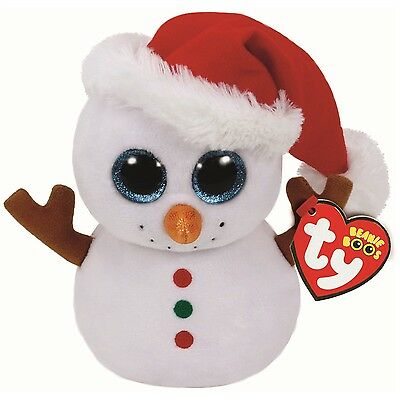Ty Beanie Babies 37195 Boos Scoops the Christmas Snowman Boo