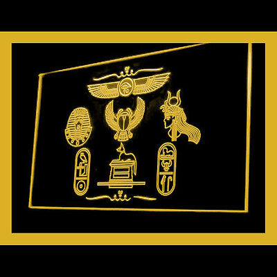 220073 Egyptian design element Attractions Explore Gift Exhibit LED Light Sign