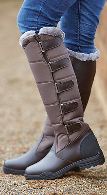Brogini Forte Long Boots warm winter yard riding walking country casual brown