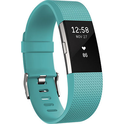 Fitbit Charge 2 Heart Rate + Fitness Wristband * Teal * Small * NEW  * Charge HR