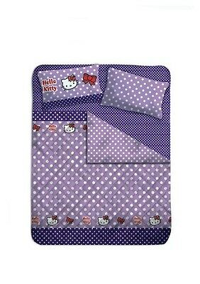 Trapunta 1 Piazza 1/2 Hello Kitty viola a pois arredo camera *05998