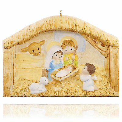 The First Christmas Nativity Book Ornament 2015 Hallmark