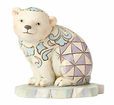 Jim Shore Heartwood Creek Miniature Polar Bear on Ice Figurine 4055060 New Mini