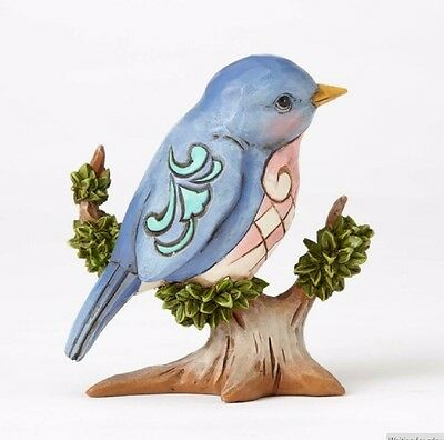 Jim Shore Heartwood Creek Miniature Bluebird on Branch Figurine 4055061 New Bird