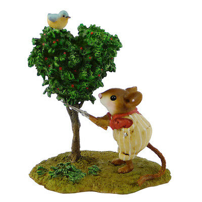 SPRUCE UP by Wee Forest Folk, WFF# M-397, Gardening Mouse