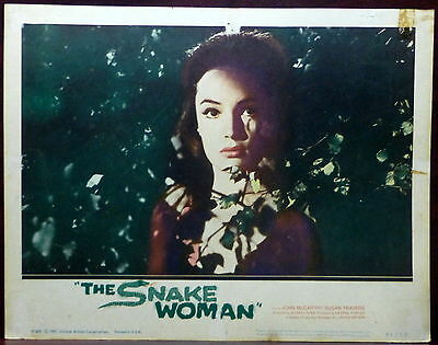 Horror The Snake Woman LOT 2 ORIGINAL 1961 Lobby Cards Susan Travers