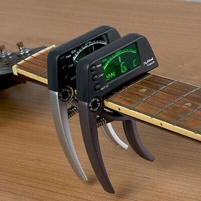 Meideal Quick Change Key Capo Tuner for Acoustic Electric Guitar Chromatic