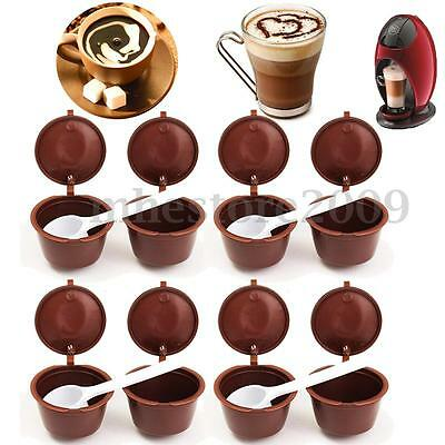 2/6/10X Capsules For Dolce Gusto Rechargeable Refillable Reusable Coffee Emohome