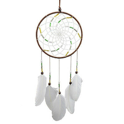 Handmade Dream Catcher Net With Feather Car Room Garden Hanging Decor Craft Gift