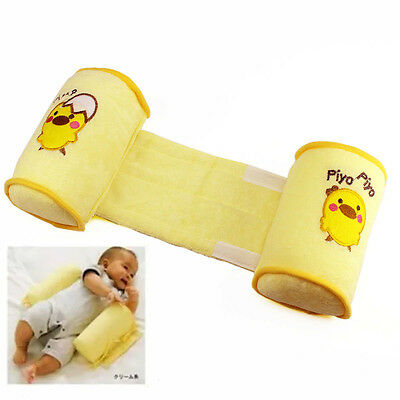 Cotton Toddler Sleep Baby Anti Roll Pillow Head Positioner Anti-rollover Yellow