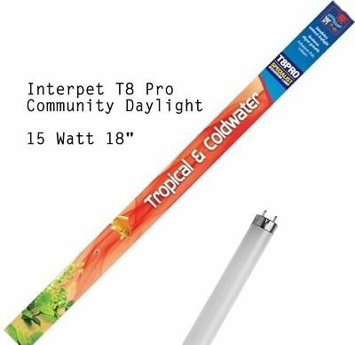 "Interpet T8 Community Daylight 15w 18"" Light Bulb Tube Fish Tank Aquarium Lamp"