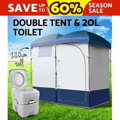 20L Outdoor Portable Toilet Camping Shower Tent Shower Bag Pop Up Change Room