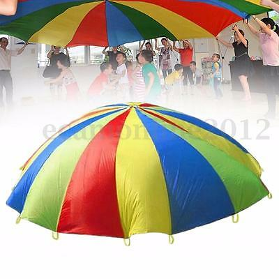 13.12ft Kids Play Rainbow Parachute Outdoor Game Development Exercise Activity